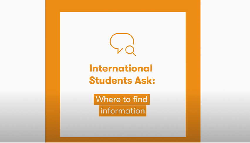 International Students Ask: How to get information